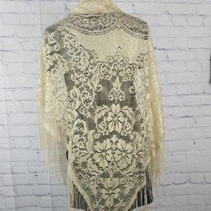 BAAR BEARDS Accessories - Baar Beards gold lace shawl